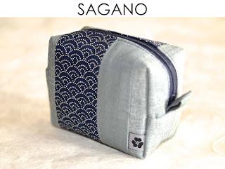 Täschchen Sagano aus japanischen Stoffen von Noriko handmade, handgemacht, Einzelstück, Unikat, Design,Kameratasche, Schminktasche, Schmucktäschchen