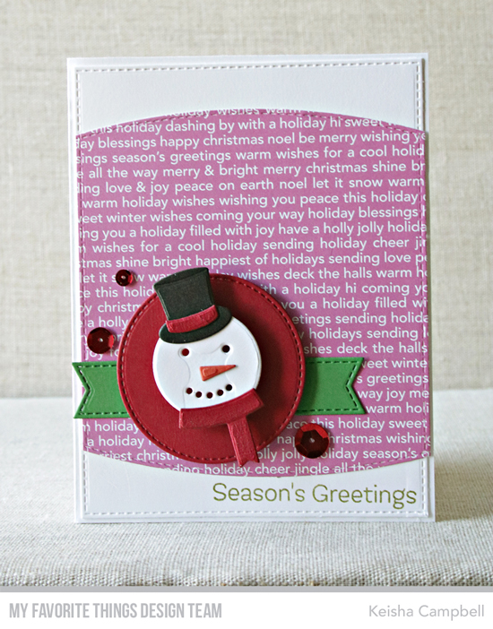Handmade card by Keisha Campbell featuring products from My Favorite Things #mftstamps