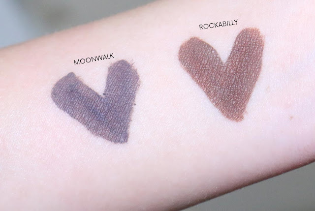 Review & Swatch Polka Cosmetics Eye & Brow Lacquer Moonwalk & Rockabilly