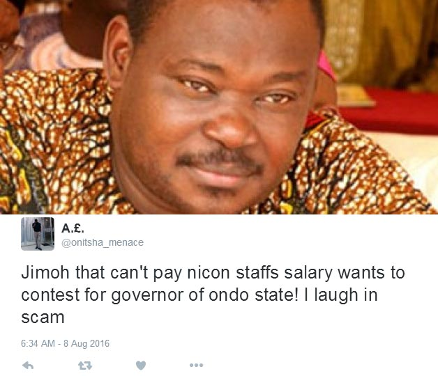 Jimoh Ibrahim cries out: I never knew Twitter people were this harsh