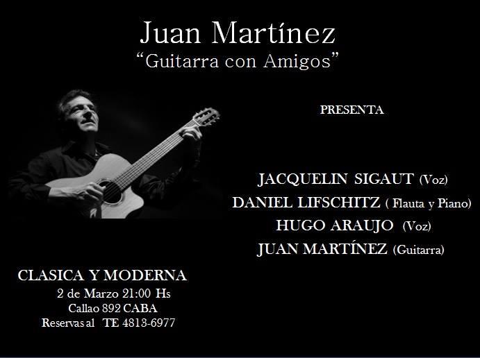 Barrio de tango jacqueline sigaut et hugo araujo mercredi for Clasica y moderna entradas