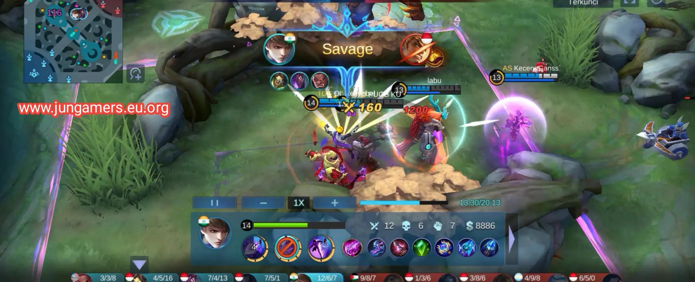 Gameplay Gusion Savage Pertama