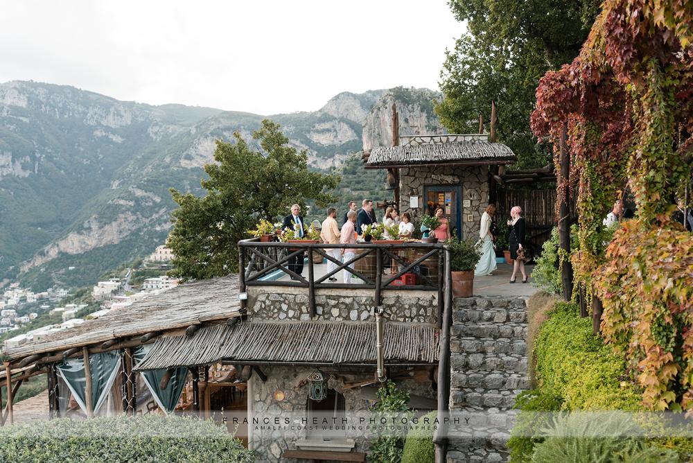 Positano wedding reception La Tagliata