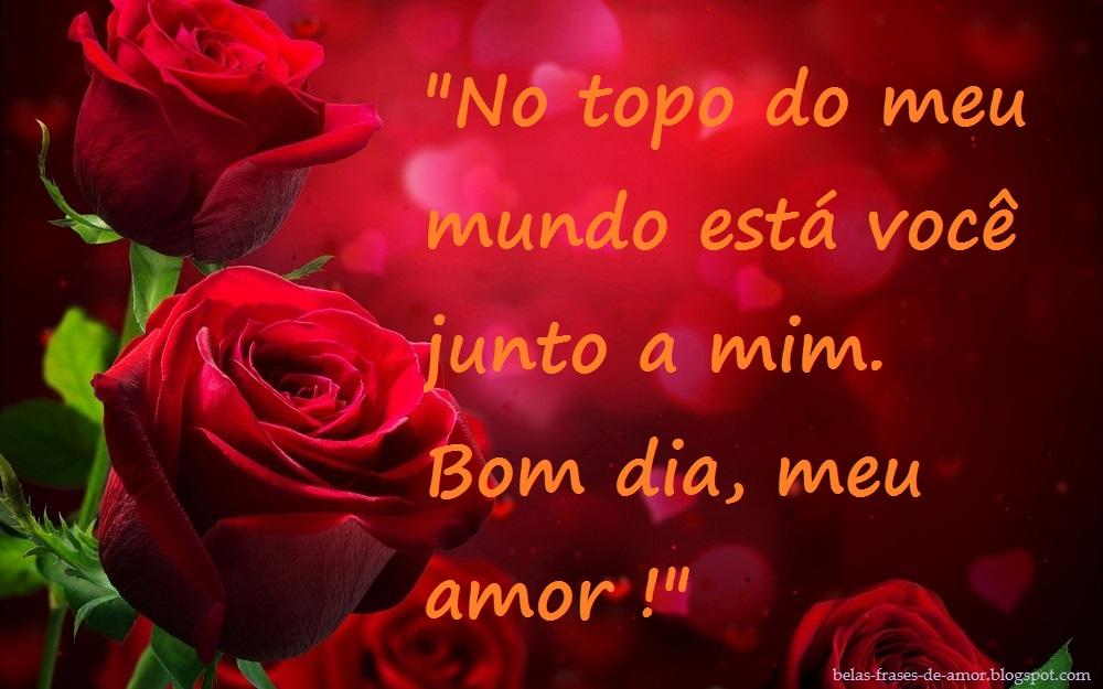 Belas Frases De Amor No Topo Do Meu Mundo Esta Voce Junto A Mim