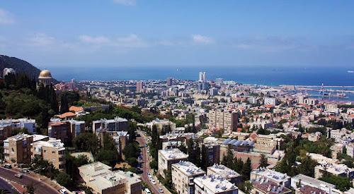 Parte alta da cidade de Haifa - Israel