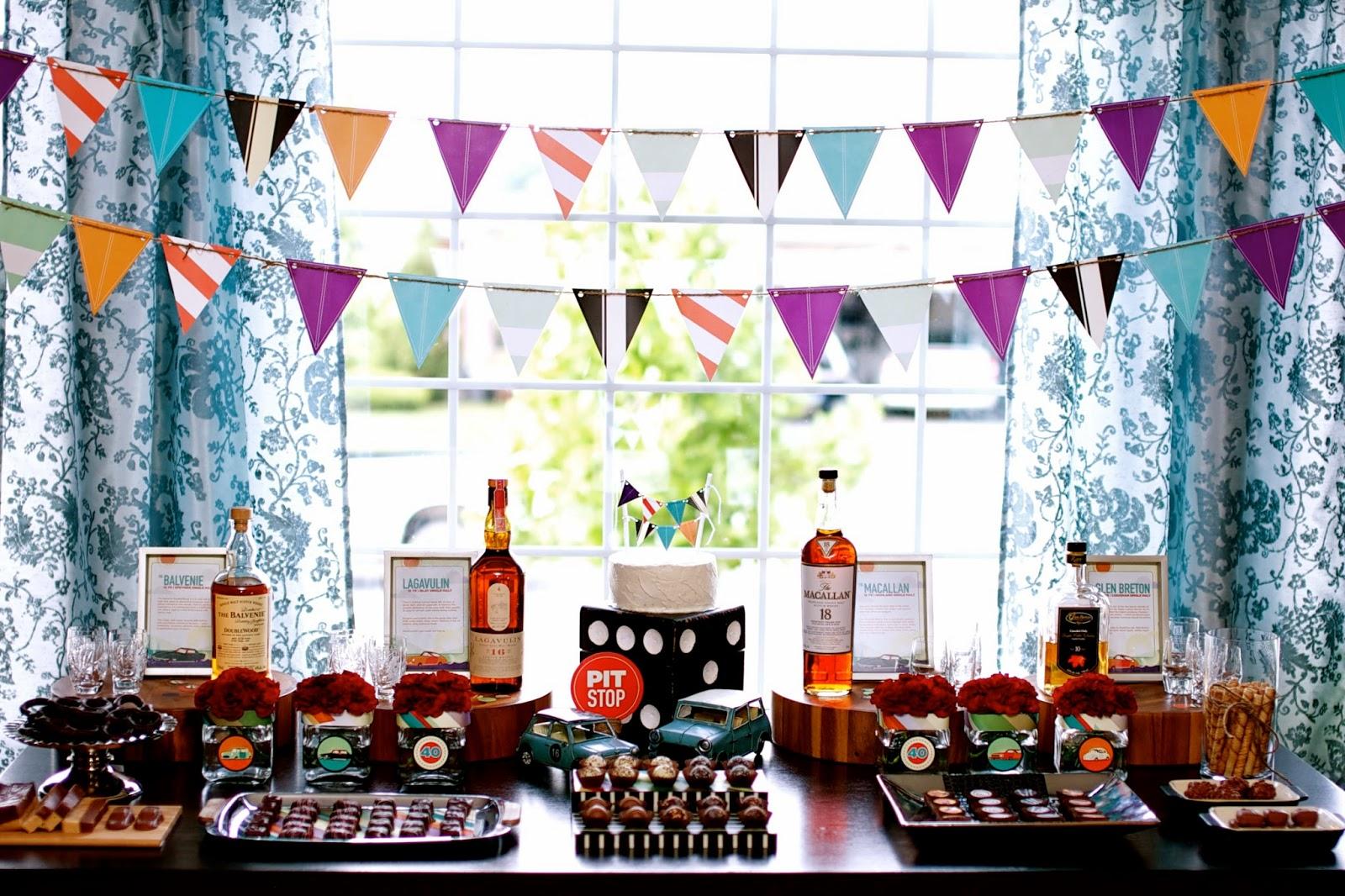 Fiesta para hombres inspirada en el whisky ideas y - Decoracion 50 cumpleanos ...