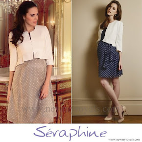 Crown Princess Victoria Style SERAPHINE Cropped Peplum Jacket