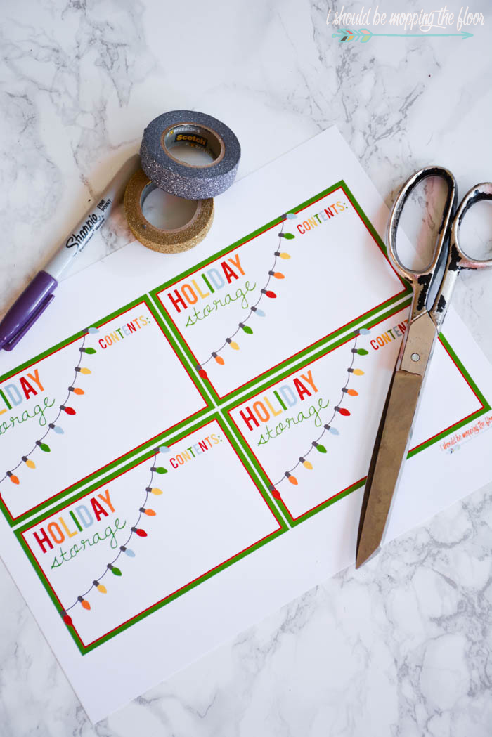 Free Printable Holiday Storage Labels