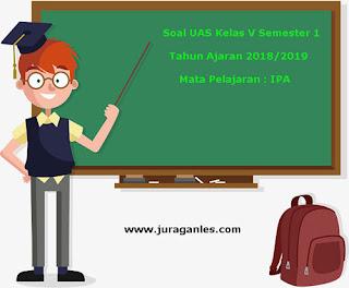 Contoh Soal UAS IPA Kelas 5 Semester 1 Terbaru Tahun Ajaran 2018/2019