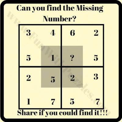 Tough math square puzzle question