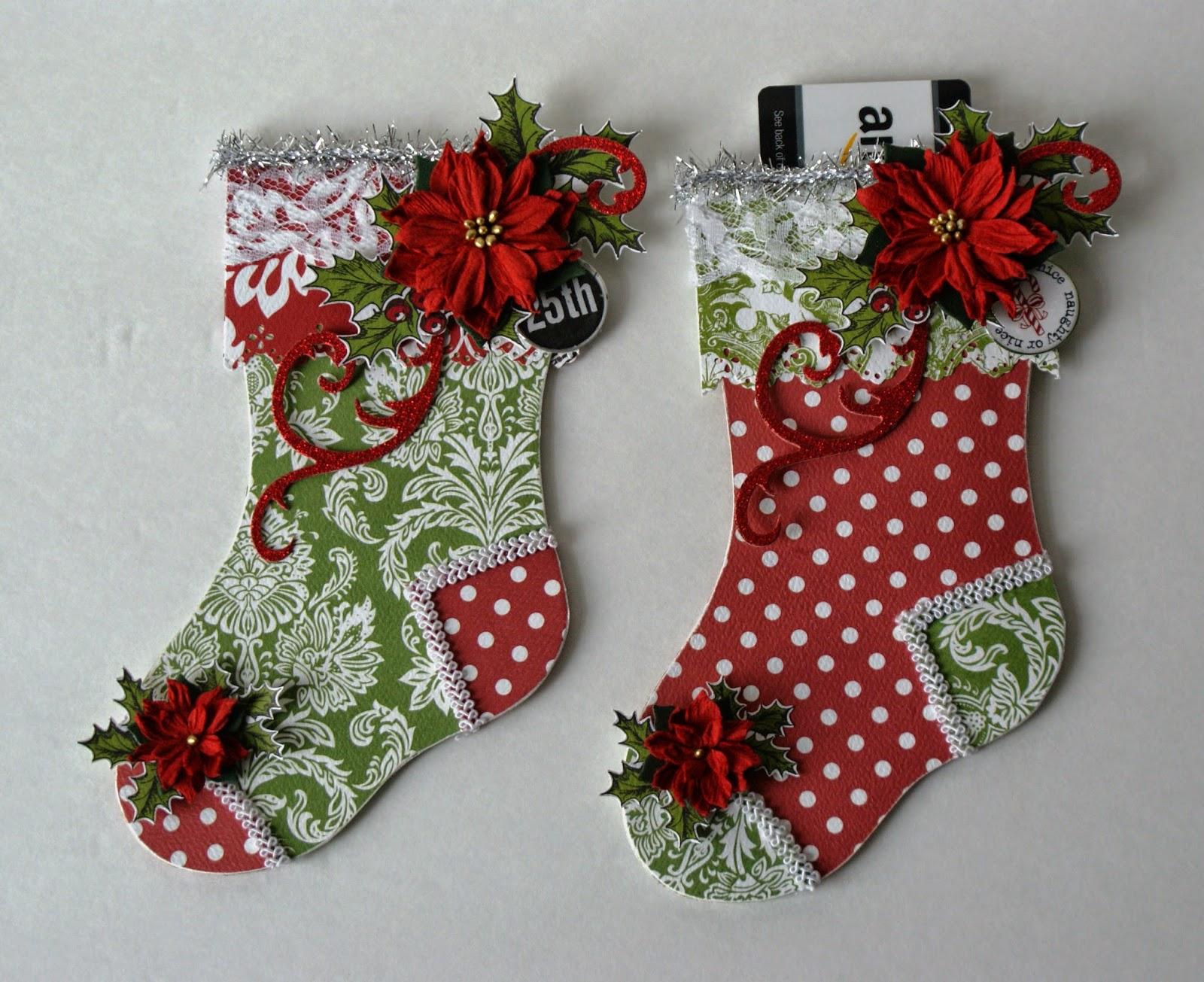 My Scrap Asylum: Christmas Stocking and Mitten Gift Card ...