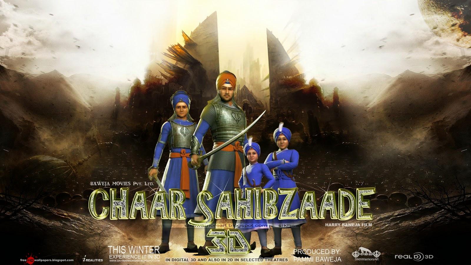 Khanda 3d Wallpapers Sikh Warriors Chaar Sahibzaade 3d Hd Movie Wallpapers