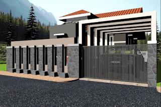 69 Gambar Model Pagar Rumah Tembok Terbaru 2017/18