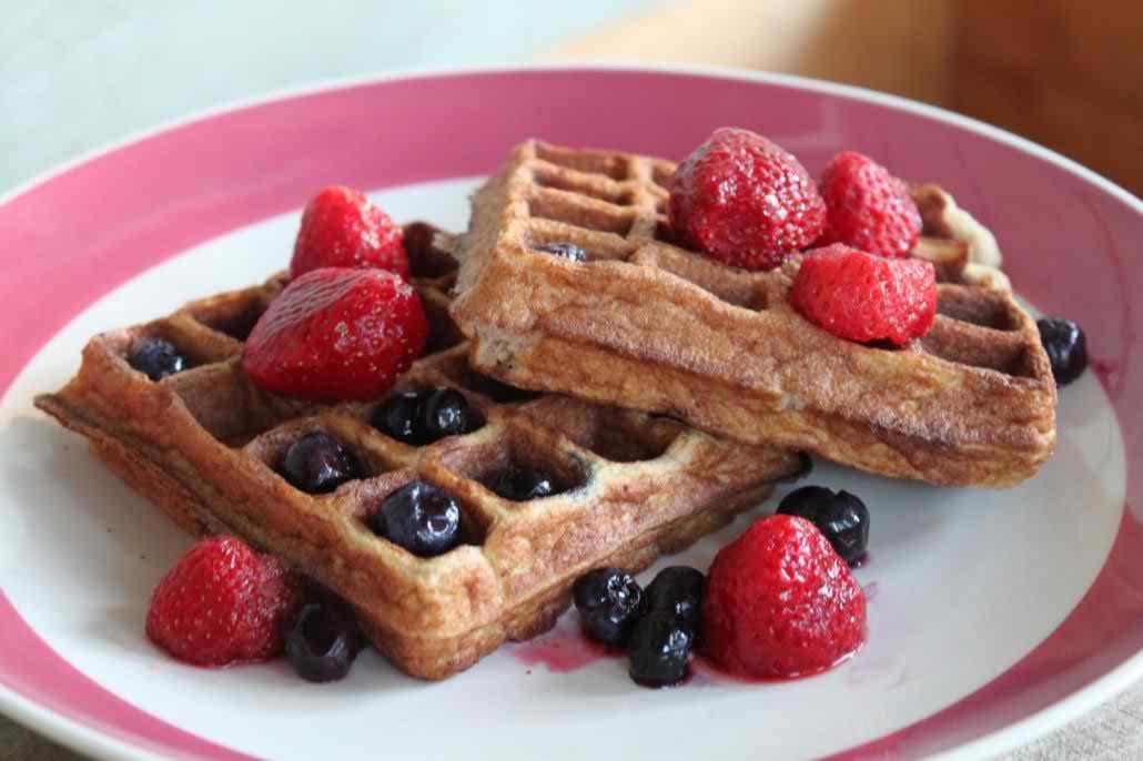 Paleo Waffles Recipe with almond flour