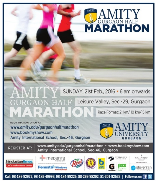 Gurgaon Half marathon on 21st February at Gurgaon -New Delhi