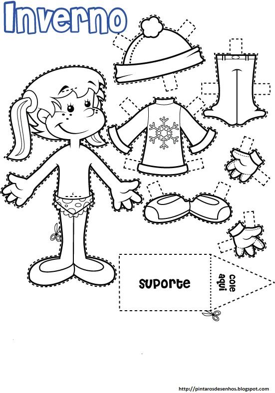 Desenhos para colorir desenhar e pintar desenhos de bonecas para pintar e colorir - Marcador de ropa mine el corte ingles ...