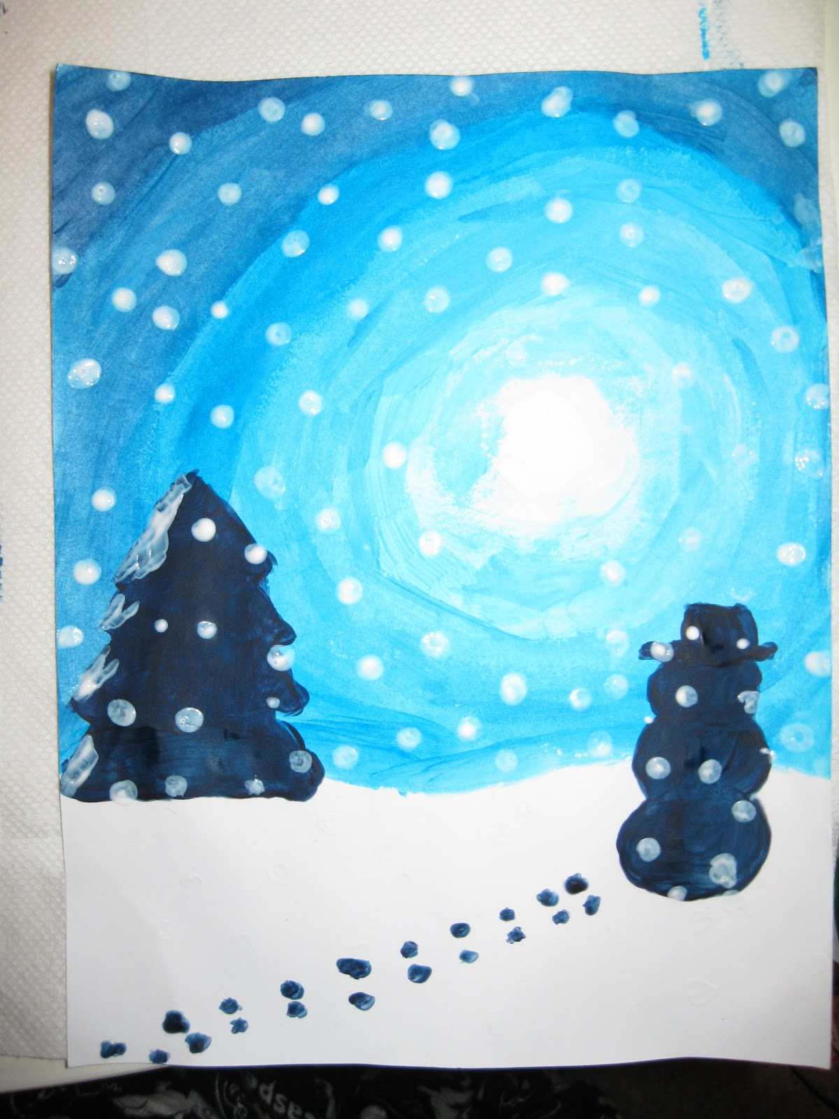 Terri 39 s teaching treasures winter wonderland art for Craft paint safe for babies