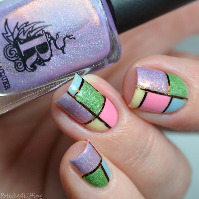 color block nail art