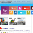 Metro Blogger Template - ZoomTemplate
