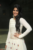 Megha Akash in beautiful White Anarkali Dress at Pre release function of Movie LIE ~ Celebrities Galleries 036.JPG