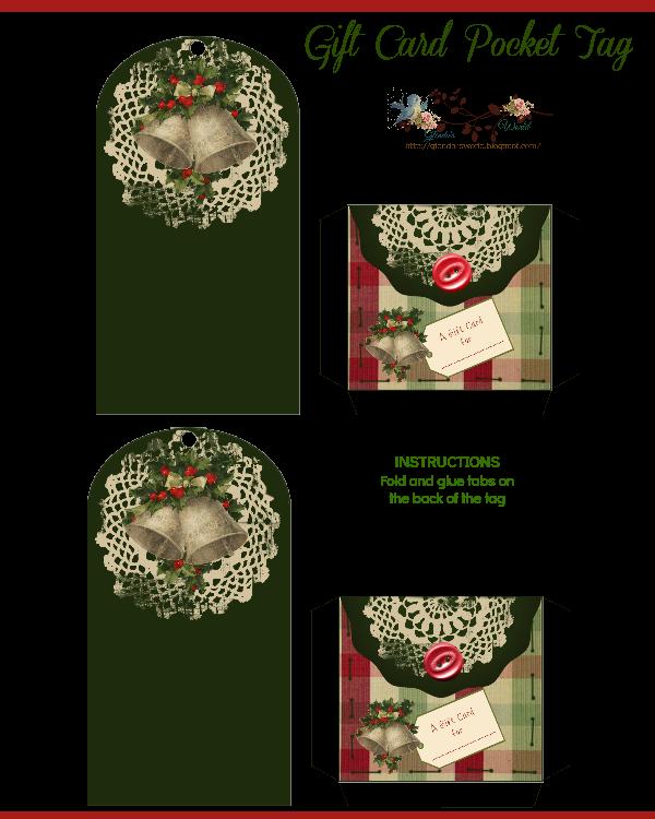 Glenda's World : Gift Card Pocket Tags