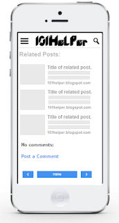 vertical related posts widget for blogger mobile site