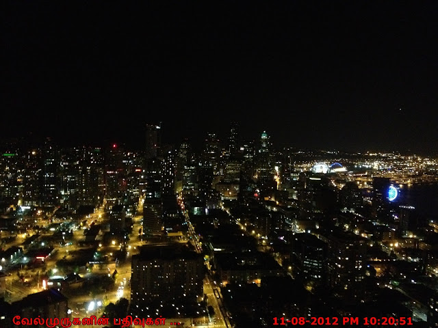 Seattle Night View from the Space Needle