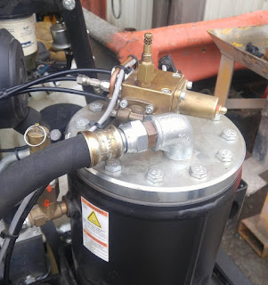 Exposed air compressor components