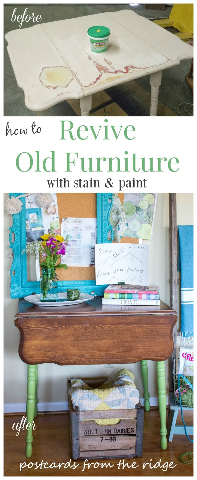 old furniture makeover. How To Revive Old Furniture With Paint And Stain Makeover