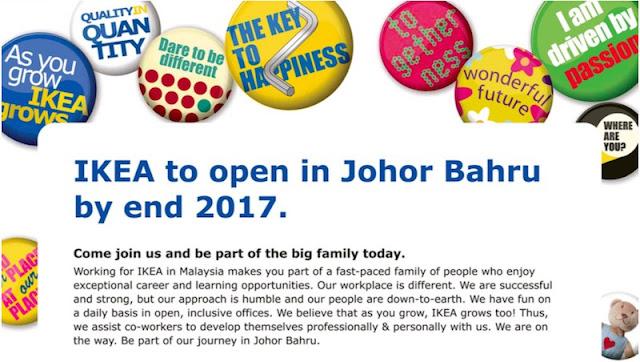 IKEA Johor Jobs Vacancies 2016 - Jawatan Kosong IKEA Johor Bahru