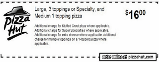 Pizza Hut Coupon Codes October 2013: Promo Codes, Deals and Printable Coupons