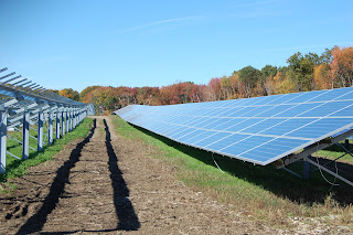 the solar farm at Mount St Mary's Abbey as it was being installed in Aug 2013