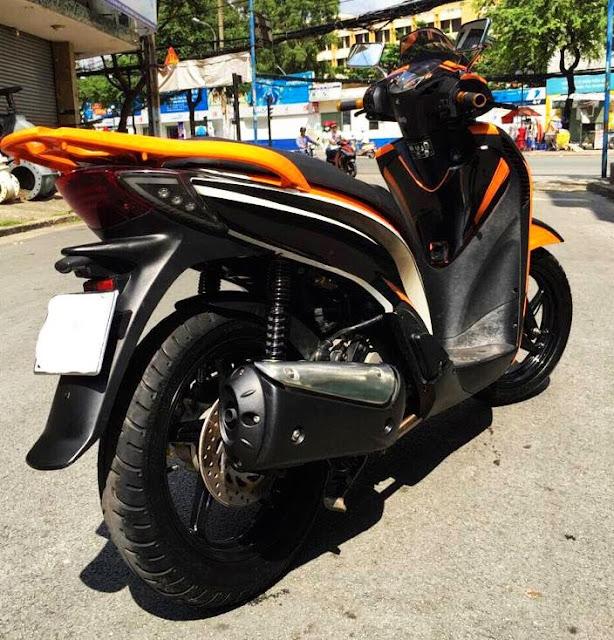 Sơn phối màu xe Honda Sh vàng đen cực đẹp và độc đáo