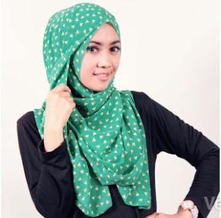 Contoh Model Hijab Motif