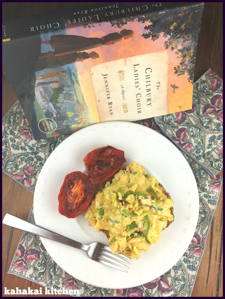 Kahakai kitchen the book tour stops here a review of the chilbury village during world war ii and told by the journals and letters of its various members accompanying my review is a simple dinner of scrambled eggs forumfinder Choice Image