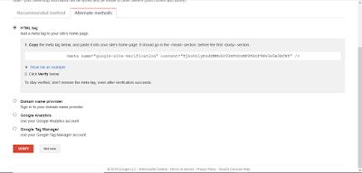 cara verifikasi google webmaster tools