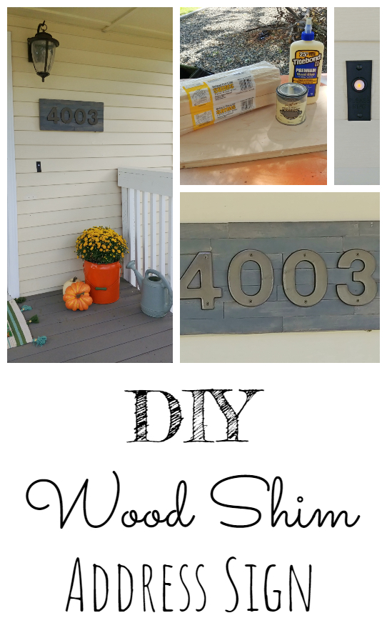 Easy DIY Wood Shim Address Sign