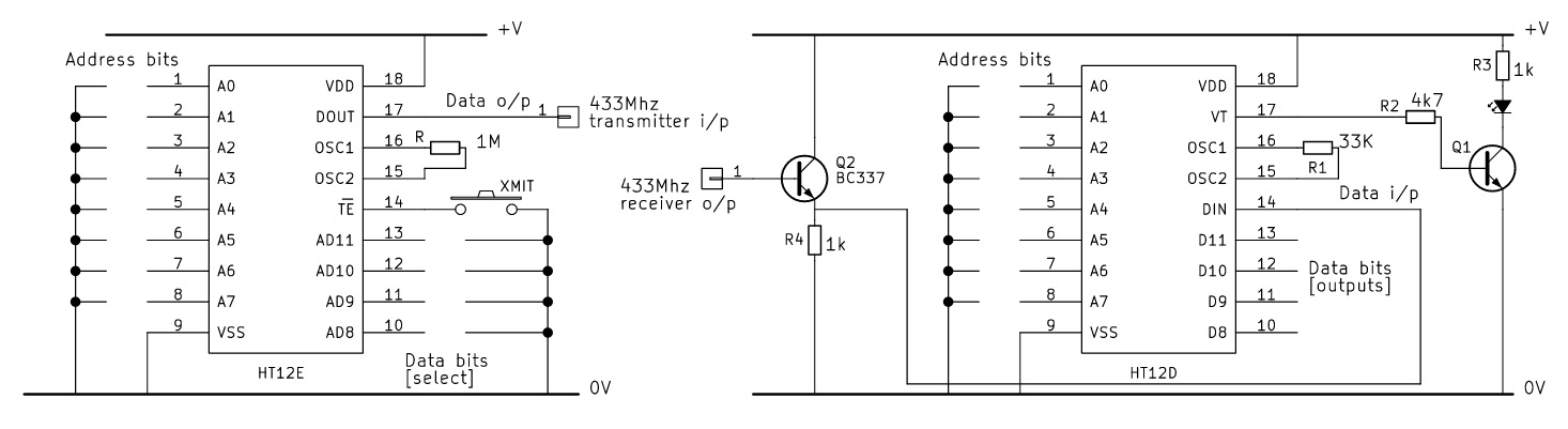 Ht12e and ht12d arduino