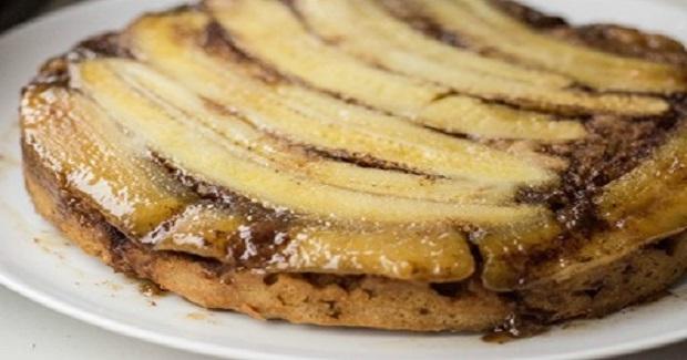 Upside-Down Caramel Banana Coffee Cake Recipe