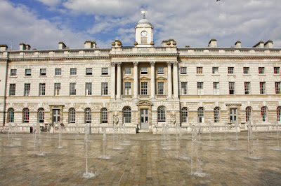 Fountains in foreground, Somerset House in background