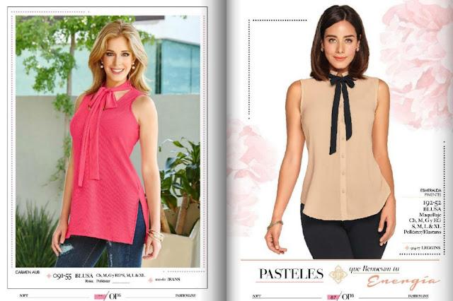 blusa color pastel damas