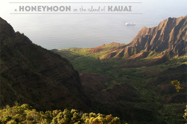 a honeymoon on the island of Kauai: recommendations by oh lovely day