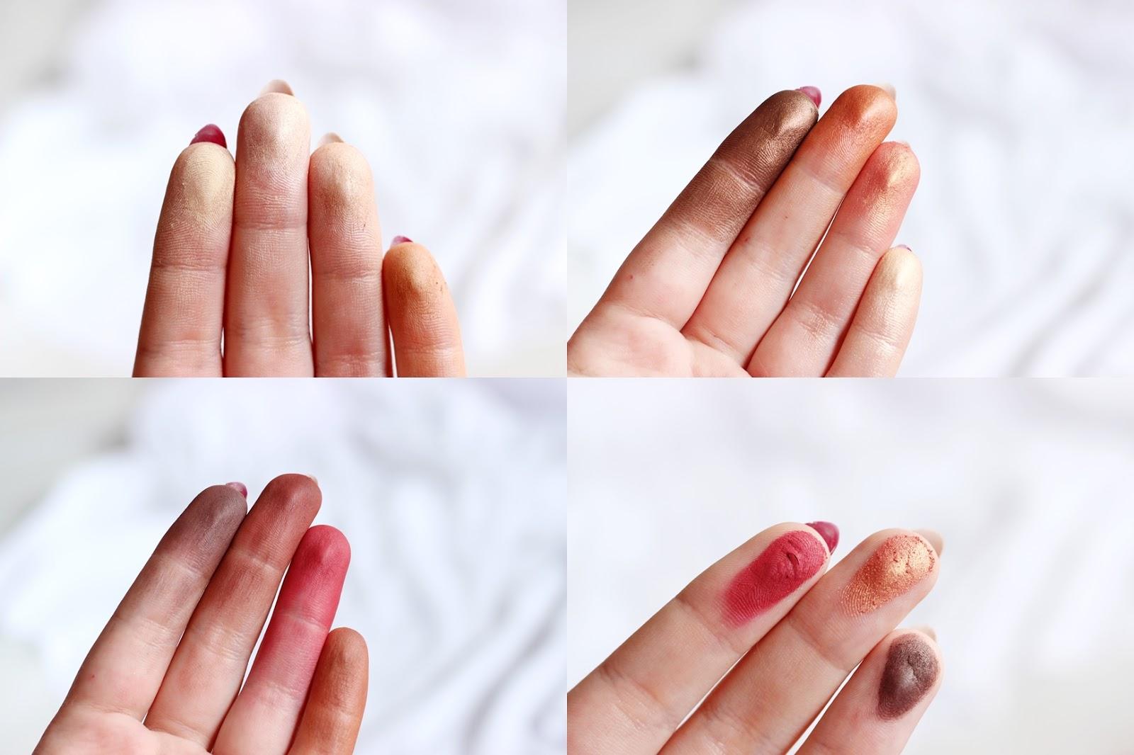 kolory swatche paleta burn ciepła drogeria eveline rossmann