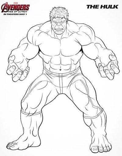 Jogo 40 desenhos dos Vingadores para colorir, pintar