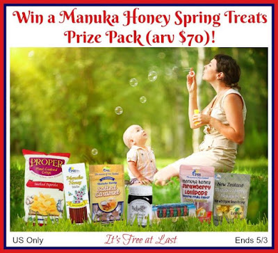 Enter the Manuka Honey Spring Treats Giveaway. Ends 5/3