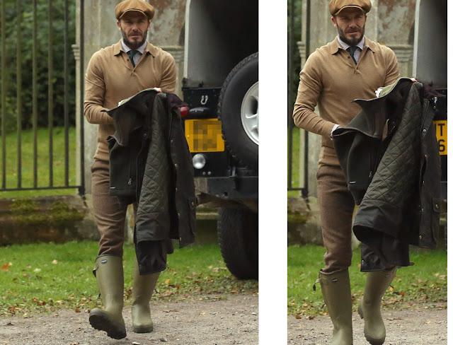 David Beckham wellies - Le Chameau Chasseur Cuir boots