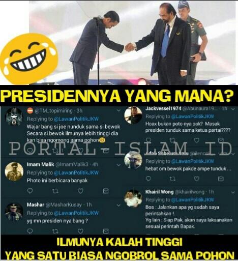 HEBOH! Jokowi Salami Surya Paloh, Netizen: Yang Mana Presidennya?
