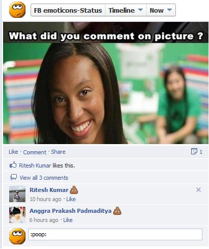 Facebook Emoticons Status: How to create facebook poop ...