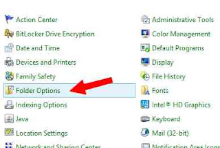 folder option win 8