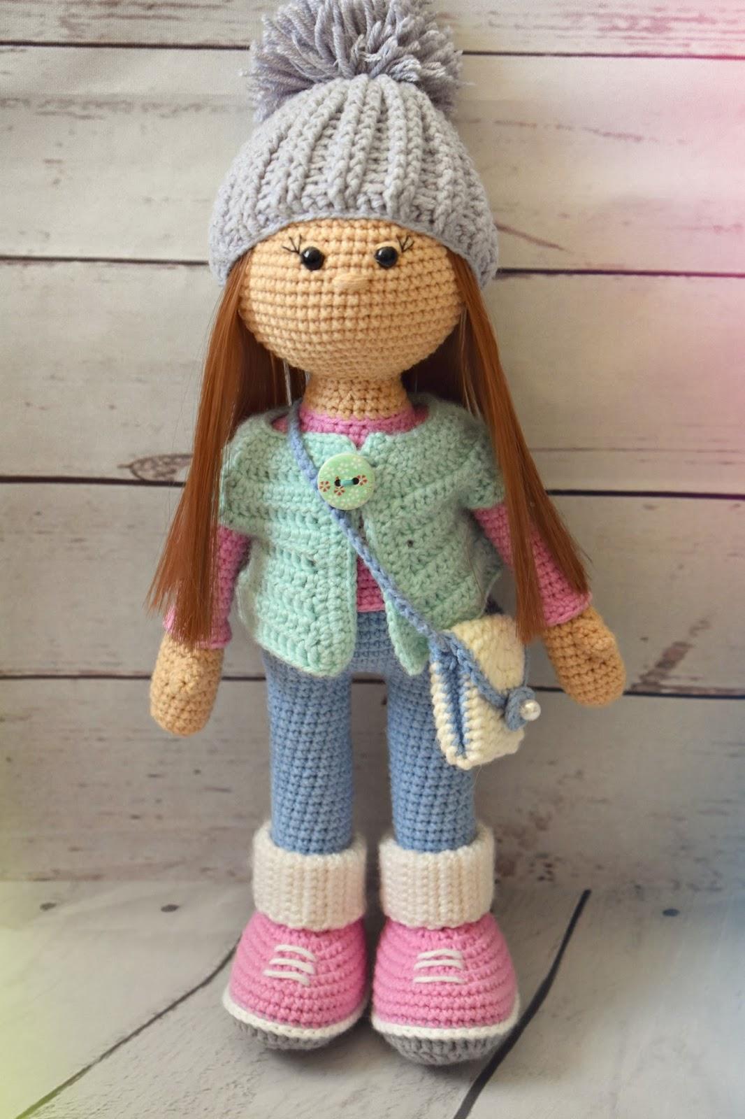 1000 схем амигуруми на русском: Вязаная кукла Стеша